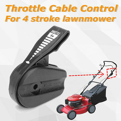 Lawn Mower Throttle Cable Control Fits for 4 Stroke Lawnmower Black