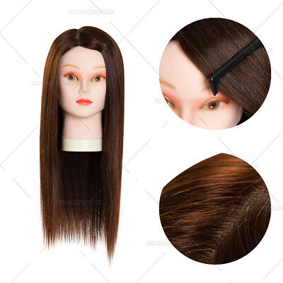 90% Professional Real Hair 22 Inch Hairdressing Training Head Mannequin Head