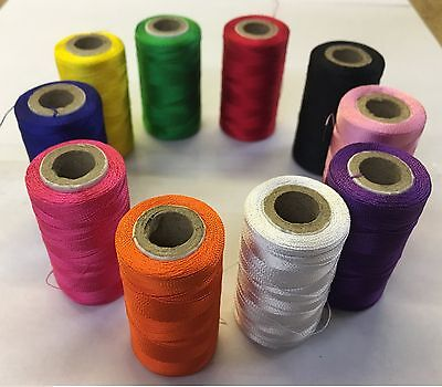 10 Vibrent Spools Sewing Machine Silk Threads BROTHER,JANOME,GUTERMAN