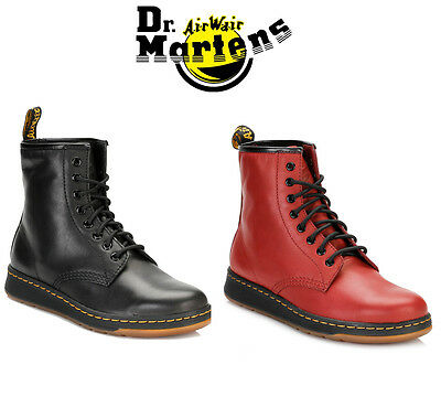Dr Martens Unisex 1460 Black or Red Ankle Boots, Mens Womens Leather Shoes
