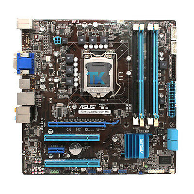 ASUS P7H55-M BM5275 Genuine Motherboard LGA1156 DDR3 MicroATX I/O Shield Tested
