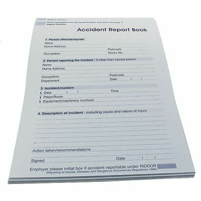 Wallace Cameron Accident Report Book 5401015 [WAC10796]