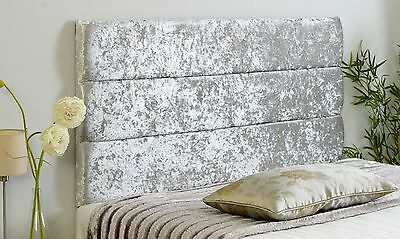 New Eton Crushed Velvet Headboard Choose Your Size + Colour + Free P & P!!!