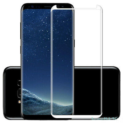 100%Genuine Tempered Glass LCD Screen Protector Film For Samsung Galaxy S8 Silve