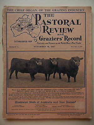 November 1937 The Pastoral Review Studs Of Australia And New Zealand Magazine