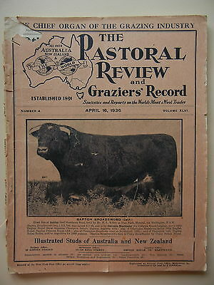 April 1936 The Pastoral Review Studs Of Australia And New Zealand Magazine