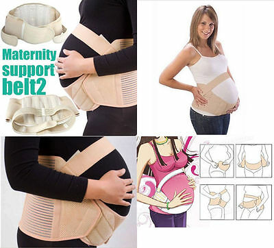 UK Maternity Belt White/Beige Pregnant Women Waist Support Prenatal Belly Band