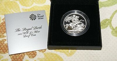 Royal Birth 2013 Uk £5 Silver Prrof Coin Prince George Free Shipping