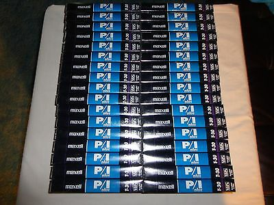 Lot of 34 Blank T-30 Maxell VHS Video Tapes New and Sealed