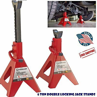 6 Ton Double Locking Jack Stands Heavy Duty Floor Stand Auto Truck Car Lift New