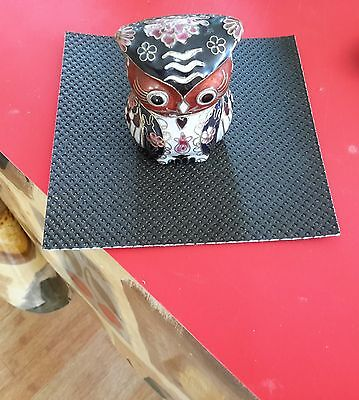 Lovely Chinese Old Cloisonne Handmade Carved Owl Statue Figure Ornament