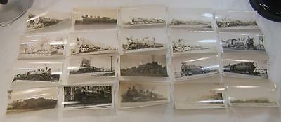 Lot Of 20 1920`s-30`s Train Steam Engines Photos Most Identified 4 1/2X2 3/4 #1