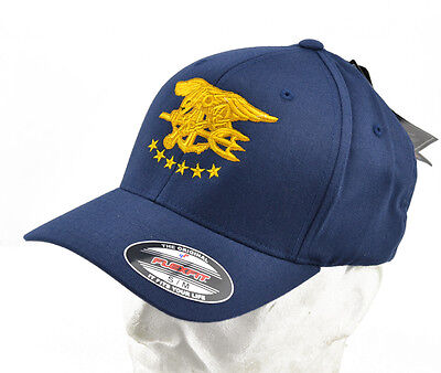 "Flexfit® brand Cappello / Cap ricamato / embroidered ""NSWDG"" Navy Blue"