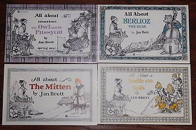 Lot of 4 Vintage All About Pamphlet Letters Newsletter JAN BRETT collectible