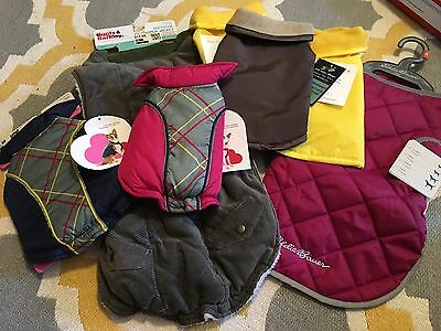 Wholesale Lot Of 7 Pet/Dog Jackets, Variety Of Sizes Colors & Brands