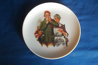 Norman Rockwell Decorative Saucer 1960's Made In Japan Boy Helping |Seamstress
