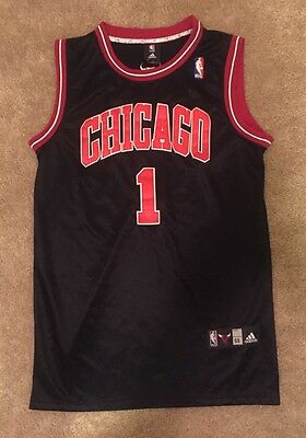 248f1e803cd ... coupon code for vintage derrick rose chicago bulls 1 adidas nba  authentic black sewn jersey xxl