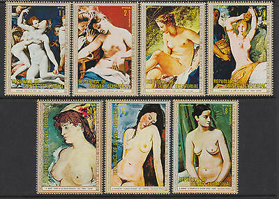 XG-AA951 EQ. GUINEA - Paintings, 1976 Nude, Eruopean Masterpieces MNH Set