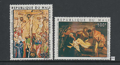 XG-AB039 MALI IND - Paintings, 1974 Easter, 2 Values MNH Set
