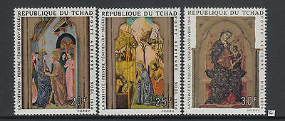 XG-AB064 CHAD IND - Paintings, 1970 Christmas, 3 Values MNH Set