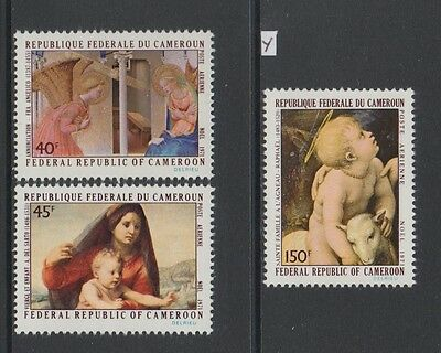 XG-AA917 CAMEROON IND - Paintings, 1971 Airmail, 3 Values MNH Set