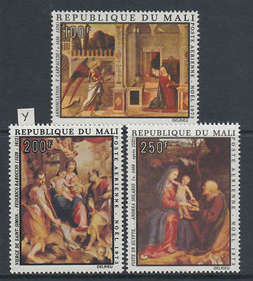 XG-AB035 MALI IND - Paintings, 1973 Christmas, 3 Values MNH Set