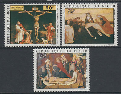 XG-AA985 NIGER IND - Paintings, 1974 Easter, 3 Values MNH Set