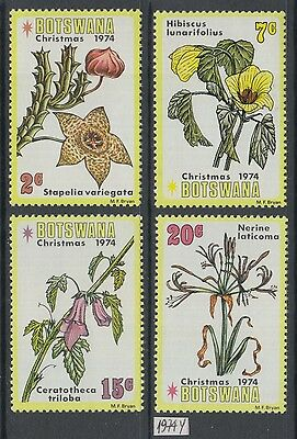 XG-AG242 BOTSWANA - Flowers, 1974 Christmas, 4 Values MNH Set