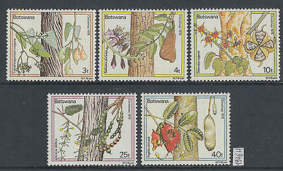 XG-AG229 BOTSWANA - Flowers, 1976 Trees, Christmas MNH Set