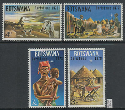 XG-AG227 BOTSWANA - Christmas, 1973 4 Values MNH Set