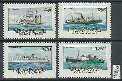 XG-AG021 NIUAFO'OU - Ships, 1985 Mail Carrier, Die Perf. MNH Set