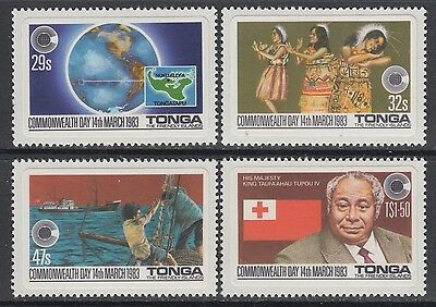 XG-AB688 TONGA IND - Commonwealth Day, 1983 Costumes, Adhesive Stamps MNH Set