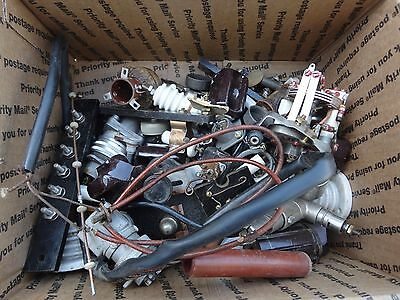 Box Of WWII Era Misc. ARMY & Air Force Electronics Parts & Pieces $60.00