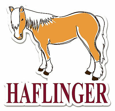 Haflinger Horse Die-Cut Vinyl Sticker Decal