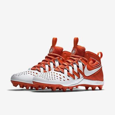 Nike Huarache V 5 LAX  Td Lacrosse Football Cleats Various Sizes White Orange
