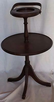 Beautiful Antique Ferguson Bros. Solid Wood Smoking Stand - VGC - 7204  Original