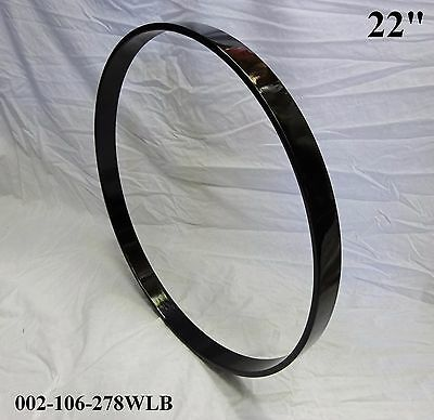 "22"" Maple Bass Drum Hoop/Ring/Rim (Rounded Front) Lacquered-Black 002-106-278WLB"