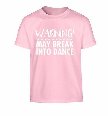 may break into dance, kid's t-shirt floss street tap ballet ballroom funny 3677