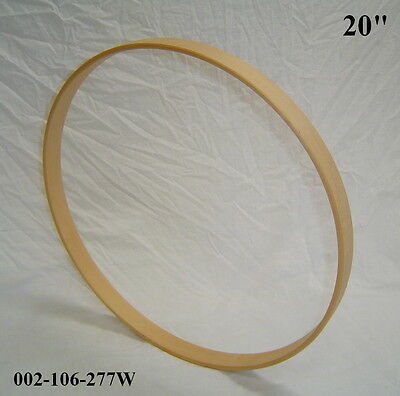 """20"""" Maple Bass Drum Hoop/Ring/Rim (Rounded Front) Unfinished 002-106-277W"""