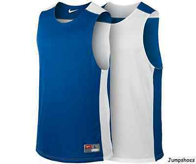 Nike League Practice Reversible Jersey shirt top basketball blue white NEW