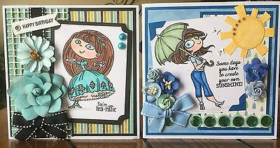 Happy Birthday/Any Occasion Handmade Greeting Card (Set of TWO)