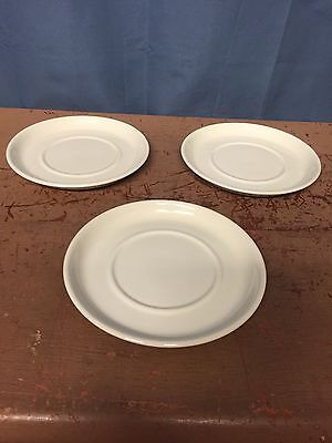 "Stonehenge Midwinter White Set of 3 Saucers 6 1/4"" LOW SHIPPING..!!"