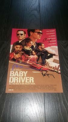 """Baby Driver Pp Signed 12""""x8"""" A4 Photo Poster Ansel Egort Jamie Foxx"""