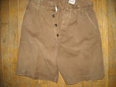 VTG 30 40S Y12 13 Mens 26 OLIVER TWIST BROWN  KNICKERS Pants BUTTON FLY SHORTS