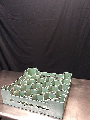 24-Compartment Commercial Plastic Glass Rack- Lot Of 5