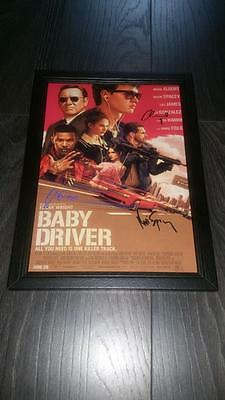 "Baby Driver Pp Signed Framed  A4 12X8"" Photo Poster  Ansel Elgort"