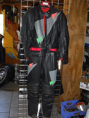 Jumbo International Armored Leather Motorcycle Racing Suit Size M