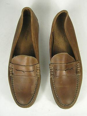 b0032c6670a EDDIE BAUER Mens Shoes Size 13 D MADE USA Brown Leather Penny Loafer ...