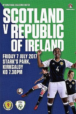 Season 2016-17 Scotland Women v Republic of Ireland Women Programme
