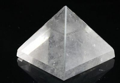 Set of 3 Clear Quartz Crystal Natural Stone Pyramid 20 mm Reiki Chakra Healing